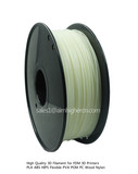 HIPS filament Glow in Dark Green color 1.75/3.0mm