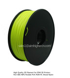 HIPS filament Glow in Dark Yellow color 1.75/3.0mm