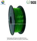 Flexible filament Transparent Green color 1.75/3.0mm